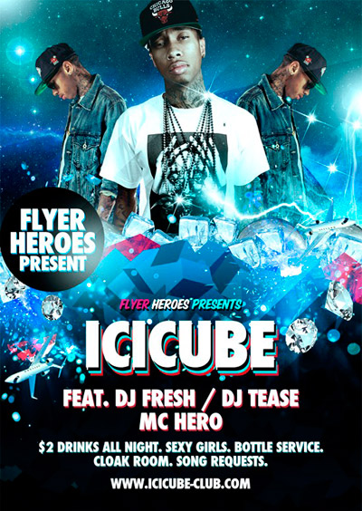Flyer-Friday-Icicube-PSD-Flyer-Template